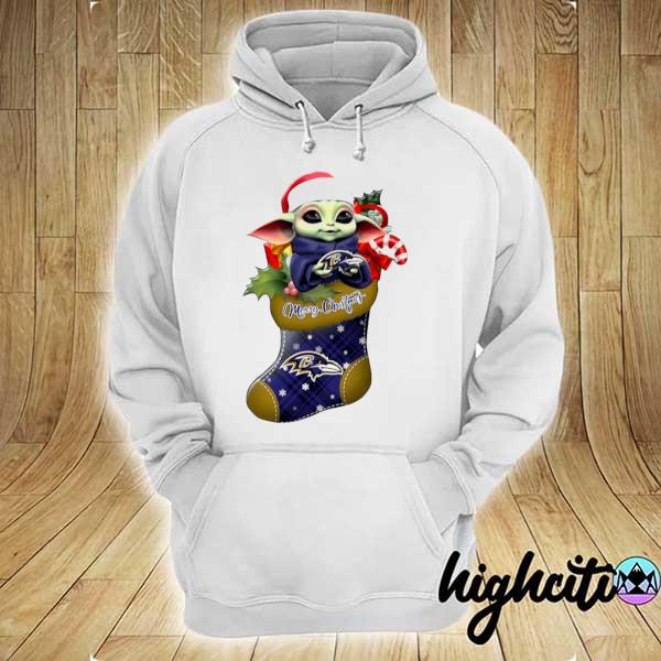 2020 baby yoda hug baltimore ravens ornament merry christmas 2020 s hoodie